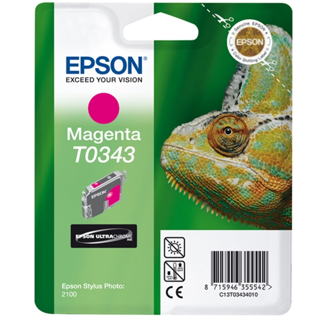 Originální cartridge EPSON T0343 (Purpurová)