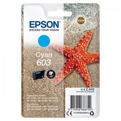 Originální cartridge EPSON č. 603 (T03U2) (Azurová)