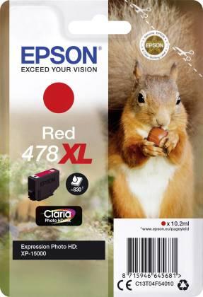 Originální cartridge EPSON 478 XL (T04F5) (Červená)