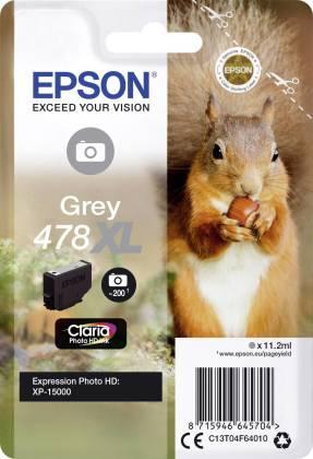Originální cartridge EPSON 478 XL (T04F6) (Šedivá)