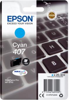 Originální cartridge EPSON č. 407 (T07U2) (Azurová)