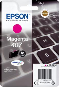 Originální cartridge EPSON č. 407 (T07U3) (Purpurová)