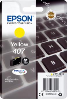 Originální cartridge EPSON č. 407 (T07U4) (Žlutá)