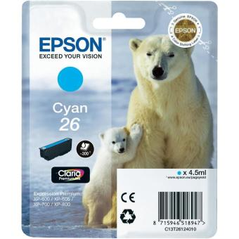 Originální cartridge EPSON T2612 (Azurová)