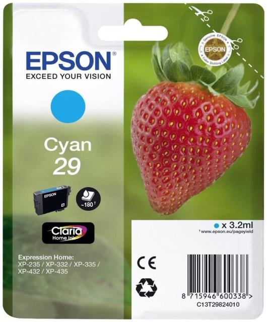 Originální cartridge EPSON T2982 (Azurová)