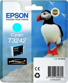 Originální cartridge EPSON T3242 (Azurová)