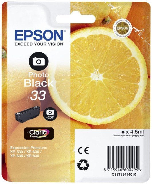 Originální cartridge Epson T3341 (Foto černá)