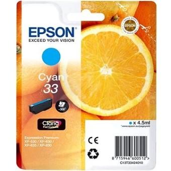 Originální cartridge EPSON T3342 (Azurová)