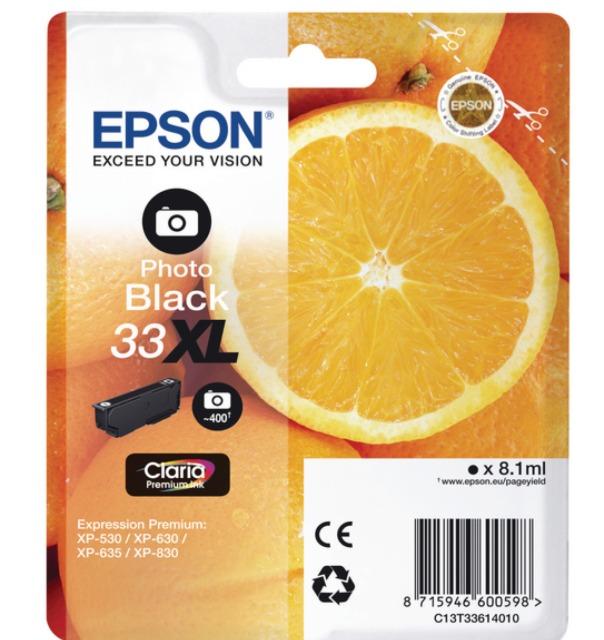 Originální cartridge Epson T3361 (Foto černá)