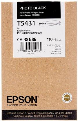 Originální cartridge EPSON T5431 (Foto černá)