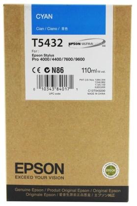 Originální cartridge EPSON T5432 (Azurová)