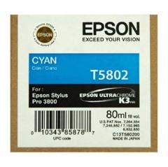 Cartridge do tiskárny Originální cartridge EPSON T5802 (Azurová)