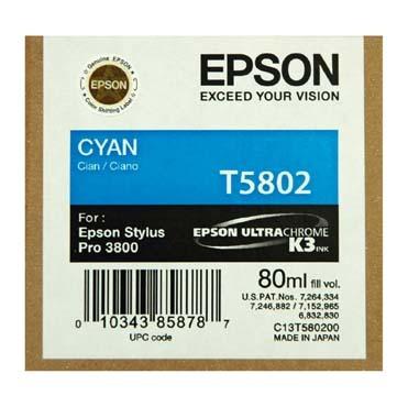 Originální cartridge EPSON T5802 (Azurová)