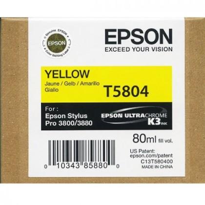 Originální cartridge EPSON T5804 (Žlutá)