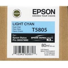 Cartridge do tiskárny Originální cartridge EPSON T5805 (Světle azurová)