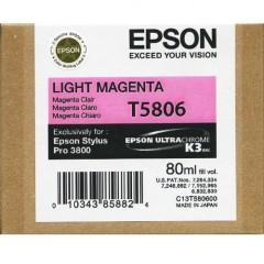 Cartridge do tiskárny Originální cartridge EPSON T5806 (Světle purpurová)