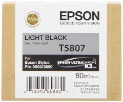 Cartridge do tiskárny Originální cartridge EPSON T5807 (Světle černá)