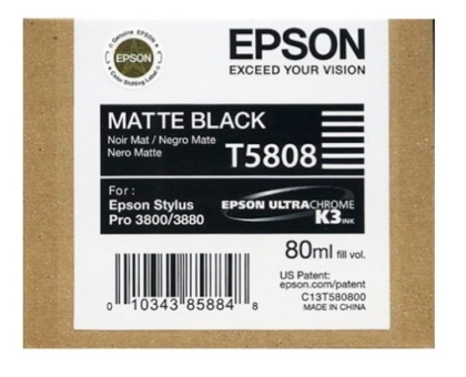 Originální cartridge EPSON T5808 (Matně černá)
