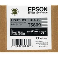 Cartridge do tiskárny Originální cartridge EPSON T5809 (Světle světle černá)