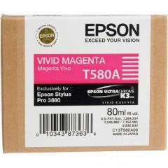 Cartridge do tiskárny Originální cartridge EPSON T580A (Živě purpurová)