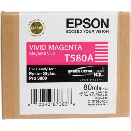 Originální cartridge EPSON T580A (Živě purpurová)