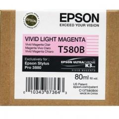 Cartridge do tiskárny Originální cartridge EPSON T580B (Živě světle purpurová)