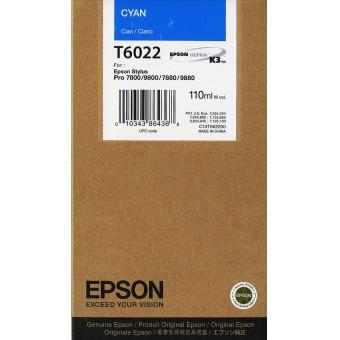 Originální cartridge EPSON T6022 (Azurová)