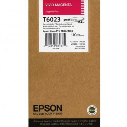 Originální cartridge Epson T6023 (Živě purpurová)