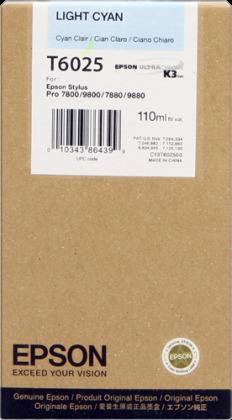 Originální cartridge EPSON T6025 (Světle azurová)