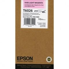 Cartridge do tiskárny Originální cartridge Epson T6026 (Živě světle purpurová)