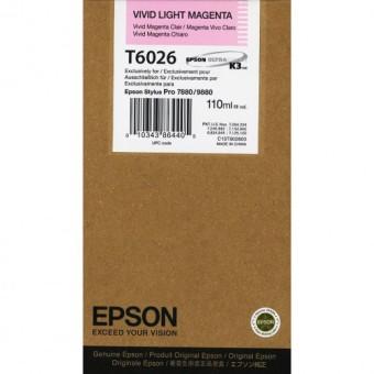 Originální cartridge Epson T6026 (Živě světle purpurová)