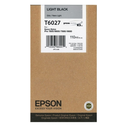 Originální cartridge Epson T6027 (Světle černá)
