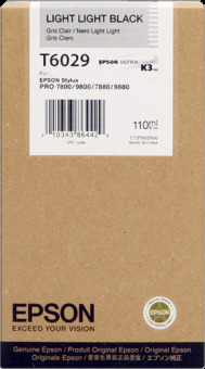 Originální cartridge Epson T6029 (Světle světle černá)