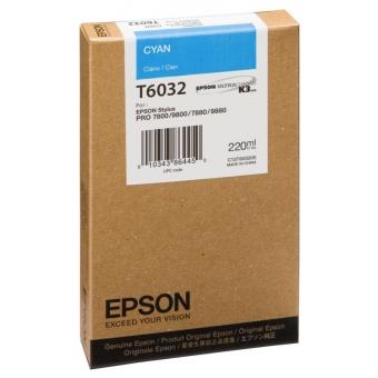 Originální cartridge EPSON T6032 (Azurová)