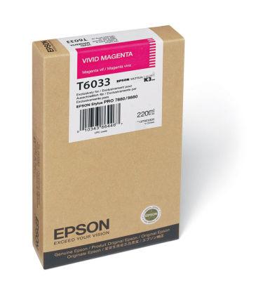 Originální cartridge Epson T6033 (Živě purpurová)