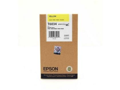 Originální cartridge EPSON T6034 (Žlutá)