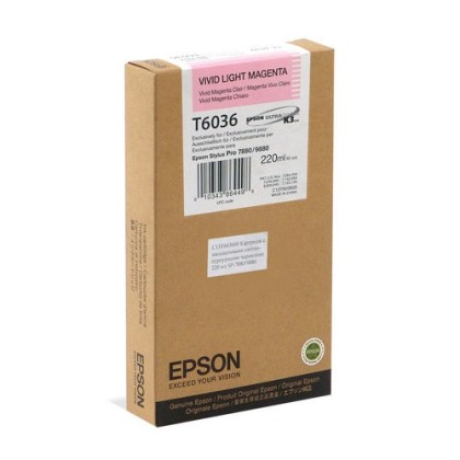 Originální cartridge Epson T6036 (Živě světle purpurová)