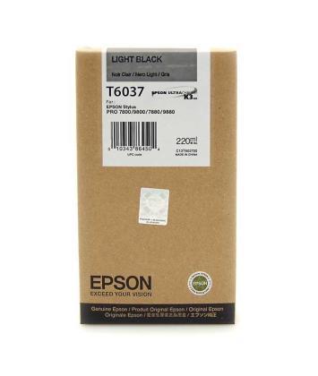 Originální cartridge Epson T6037 (Světle černá)