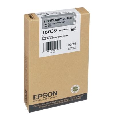 Originální cartridge Epson T6039 (Světle světle černá)