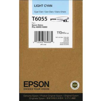 Originální cartridge EPSON T6055 (Světle azurová)