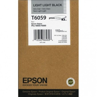 Originální cartridge EPSON T6059 (Světle světle černá)