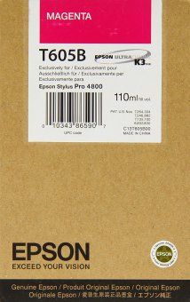 Originální cartridge EPSON T605B (Purpurová)