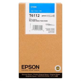Originální cartridge EPSON T6112 (Azurová)