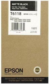 Originální cartridge EPSON T6118 (Matná černá)