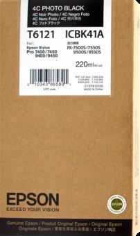 Originální cartridge EPSON T6121 (Foto černá)