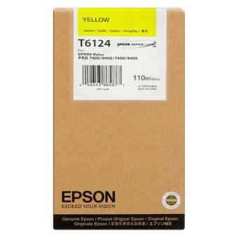 Originální cartridge EPSON T6124 (Žlutá)