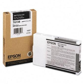 Originální cartridge EPSON T6138 (Matná černá)