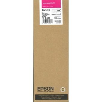 Originální cartridge EPSON T6363 (Živě purpurová)