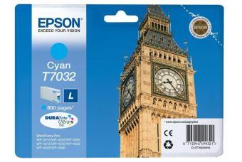 Originální cartridge EPSON T7032 L (Azurová)