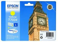 Cartridge do tiskárny Originální cartridge EPSON T7034 L (Žlutá)